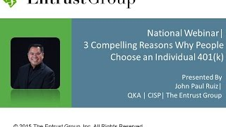 3 Compelling Reasons why People Choose an Individual 401(k) - Video Image