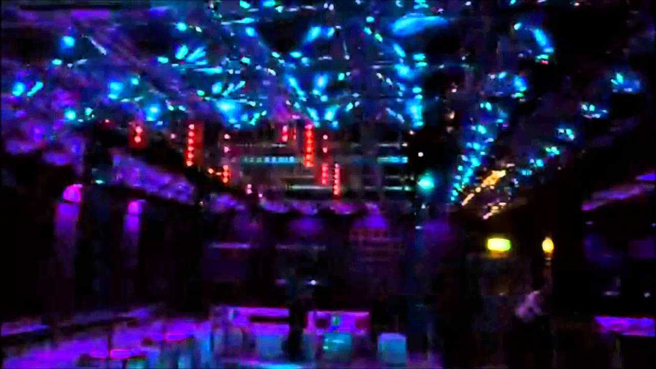Abstract Lighting Pixel Ceiling Tubes Venom Nightclub