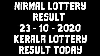 Nirmal lottery result today | 23-10-2020 | kerala lottery result today