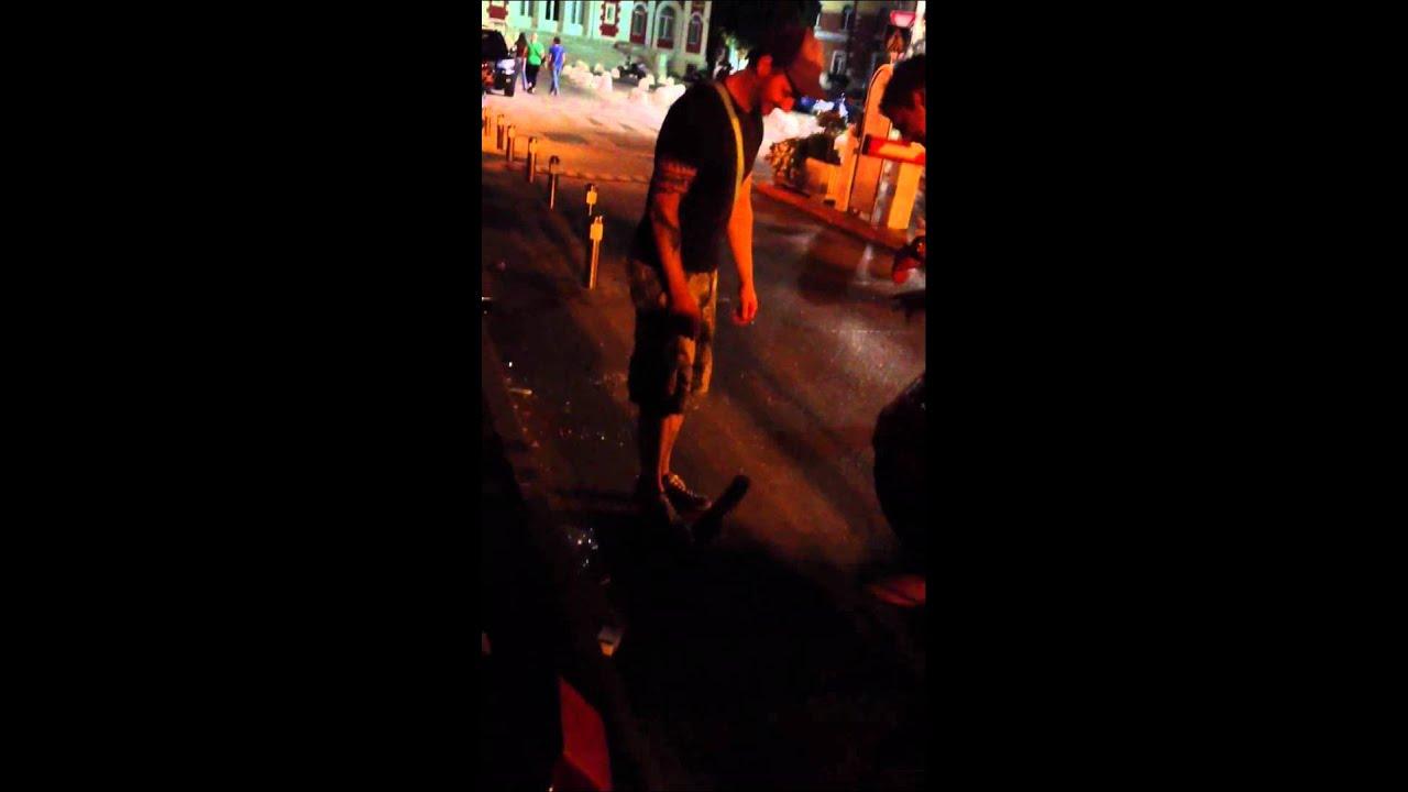 Drunk guy vs flip flop