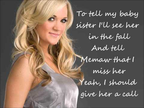 Carrie Underwood - Don't Forget To Remember Me Lyrics
