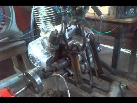 Molino con motor de moto