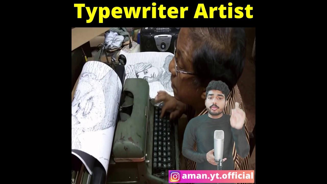 #shorts Typewriter से बनाते है इतनी खूबसूरत Painting की देख हैरान हो जाओगे