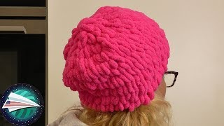 DIY Winter Hat 💟 Off the Hook 💟 Crocheting NO TOOLS 💟 Beanie DIY 💟 Lion Brand