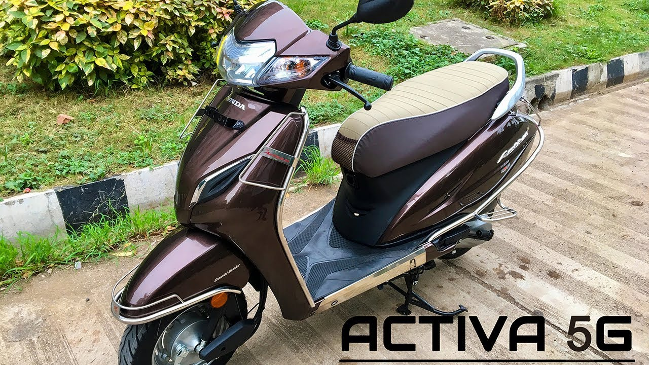 Honda Activa 5G STD Varient Brown Modified 2018