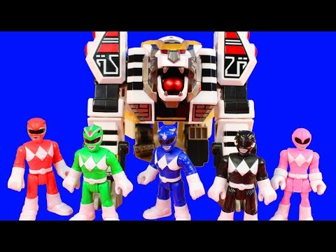 Mighty Morphin Power Rangers Legacy White Tigerzord Saves Imaginext Power Rangers From Rita Repulsa