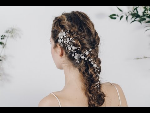 How to style bridal hair combs - and keep them secure in your hair!