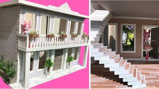 DIY: cardboard dollhouse (how to make a 1:12 scale dollhouse)