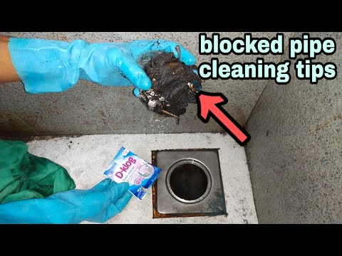 how to clean blocked pipe easily