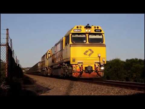 Karara Ore Train Arriving Into Geraldton - EMD ACN Class Locomotives