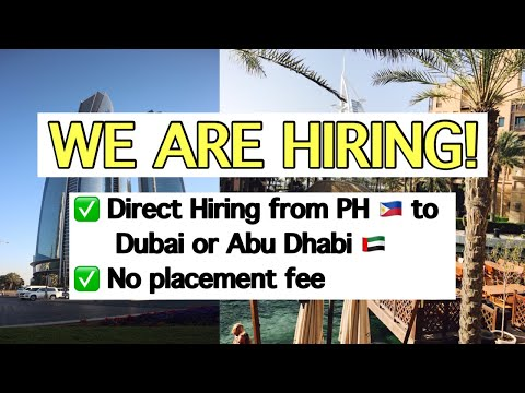 Updated:WE ARE HIRING! JOBS FOR DUBAI AND ABU DHABI UAE 2019|NO PLACEMENT FEE|DIRECT FROM| CLOSE