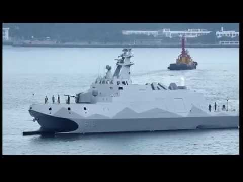 Taiwan's Navy First Domestically Built Missile Warship