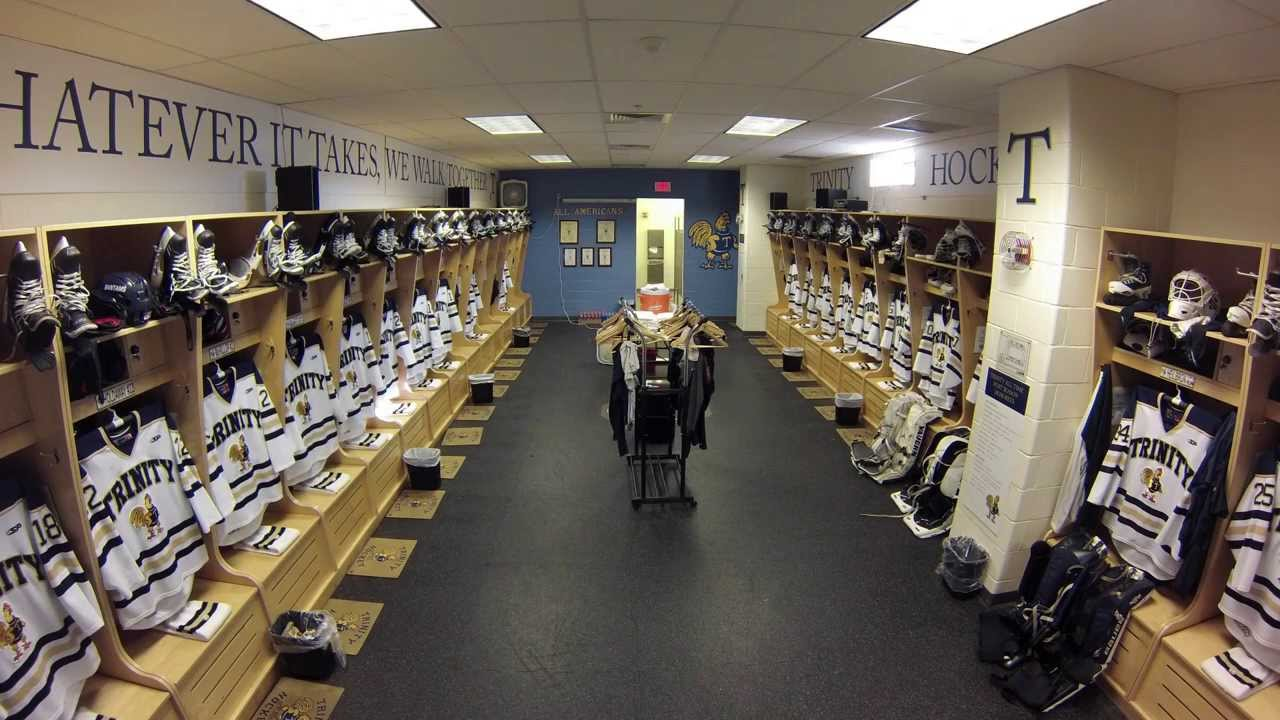 Trinity College Hockey Locker Room Time Lapse - YouTube