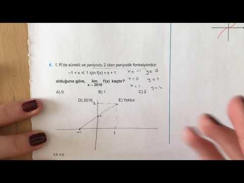345 AYT Matematik Limit-Süreklilik Ösym-3 Anlatımlı Çözümleri (2018-2019 Basım)