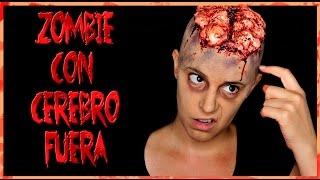 Zombie con cerebro fuera Makeup FX #106 | Silvia Quiros