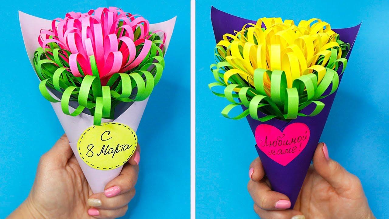 Цветок ПОДАРОК из бумаги за 5 минут!