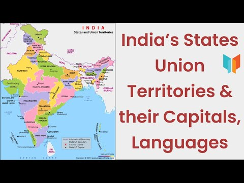 India's States Union Territories & Their Capitals, Languages.