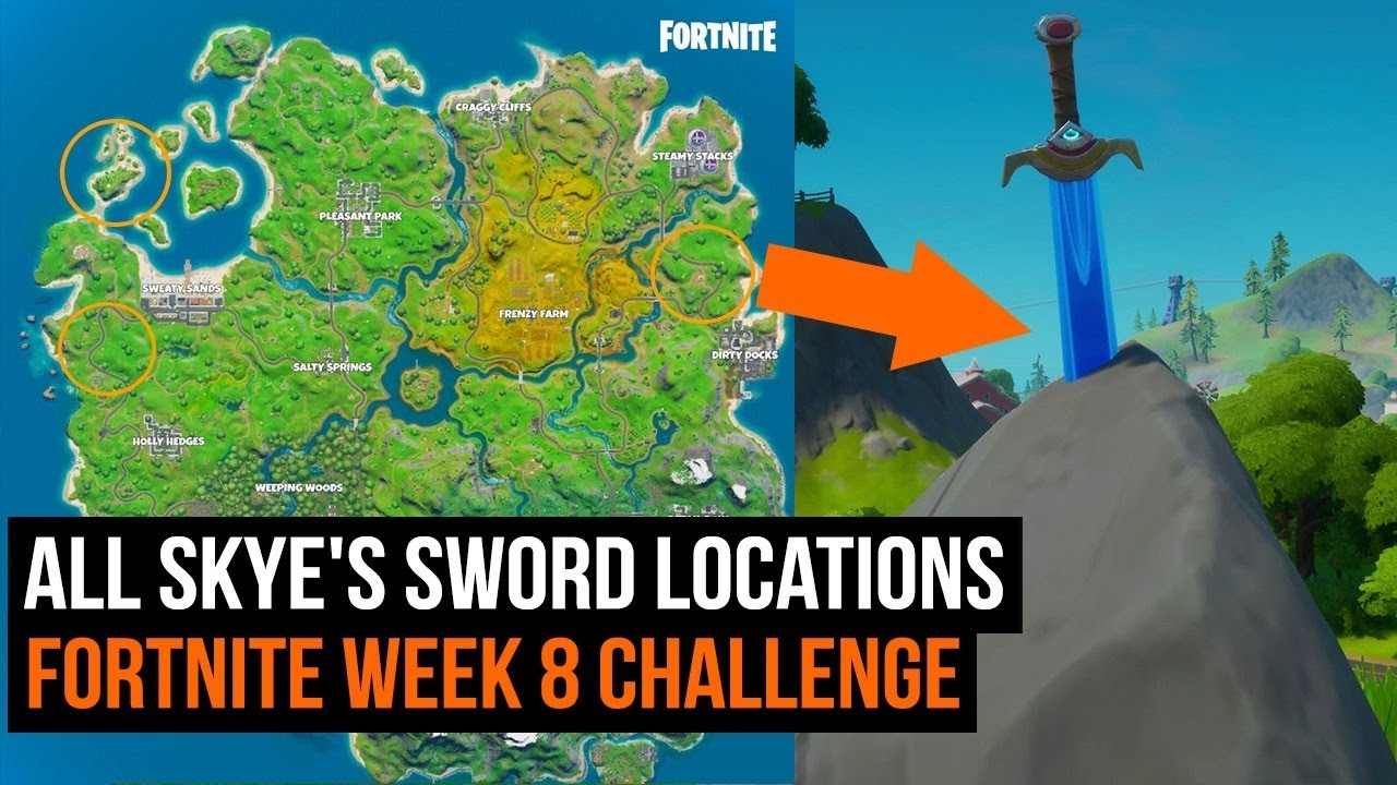 All Skye's Sword Locations | FORTNITE CHAPTER 8 SEASON 2 - GamesRadar