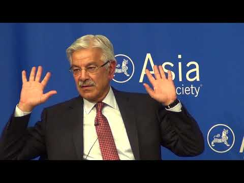 Pakistan's Foreign Minister Khawaja Asif speaks on pluralism