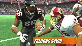 Sean Taylor Gets One Vs the Skins - madden 07 ps2 Falcons Franchise s4w5