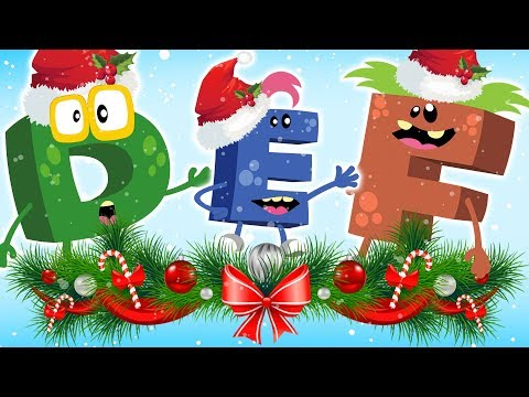 CHRISTMAS  🎊 ABC Alphabet Phonic Song For Kids Children by ABC Monsters