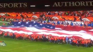 Andy Kelso sings the National Anthem at Denver Broncos Game