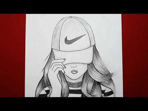 Nike Sapkali Kiz Nasil Cizilir How To Draw A Girl With Cap For