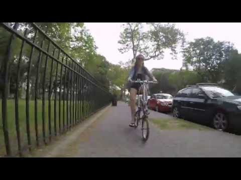 Biking and Breakfasting in Astoria, NY with our Citizen Tokyo folding bikes