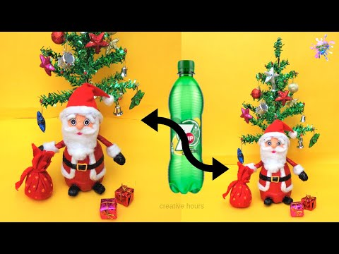 DIY: How to make Santa Claus at home/ Easy Newspaper Craft for Christmas 2019