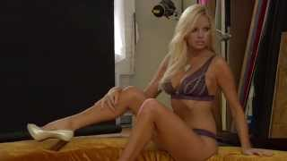 Playmate Lauren Anderson - Purple Lingerie Photo Shoot!