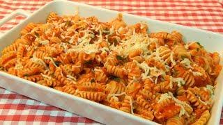 Receta Italiana de pasta con salsa Arrabbiata