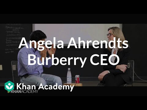 Angela Ahrendts - Former CEO of Burberry | Entrepreneurship | Khan Academy