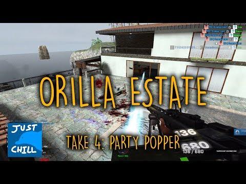 Gmod Zombie Survival: Orilla Estate Take 4 - Party Popper Event
