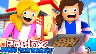 LITTLE CARLY&LITTLE KELLY WORK IN A PIZZA PLACE (Roblox)