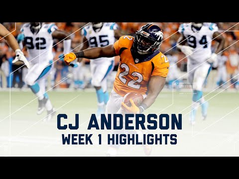 Every CJ Anderson Run & Catch | Panthers vs. Broncos | NFL Week 1 Player Highlights