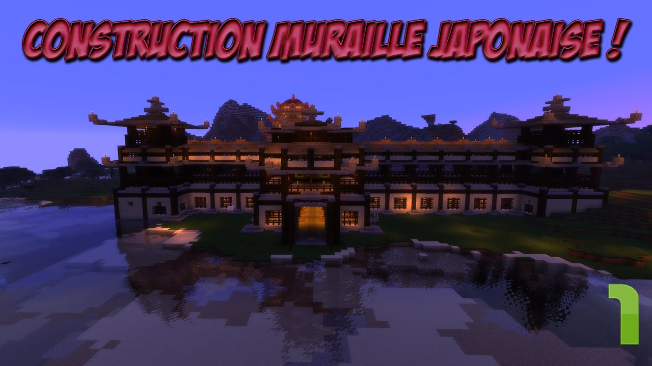 minecraft construction muraille japonaise 1 3 youtube. Black Bedroom Furniture Sets. Home Design Ideas