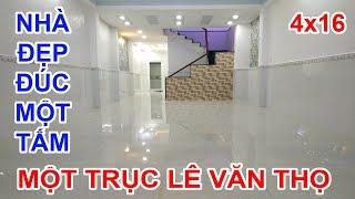 Bán Nhà Gò Vấp | Nhà đúc 1 tấm 4x16 vị trí một trục Lê Văn Thọ Quang Trung tuyệt đẹp, sang trọng