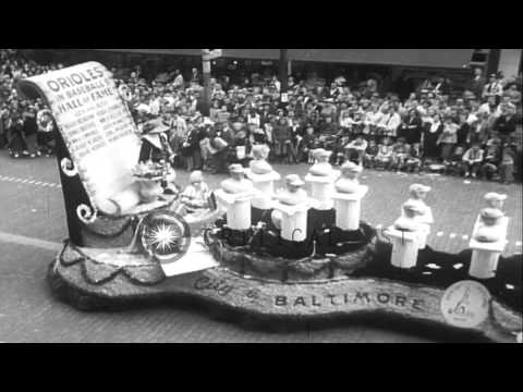 People welcome the Baltimore Orioles, professional baseball team, with a gala par...HD Stock Footage
