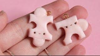 Valentines Puzzle Piece Polymer Clay Tutorial