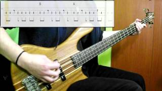 Blur - Coffee & TV (Bass Cover) (Play Along Tabs In Video)
