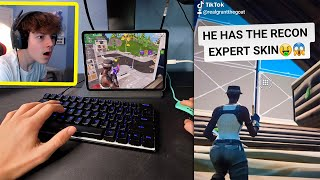 I tried out for my TIKTOK Clan while using a RECON EXPERT in Fortnite Mobile...