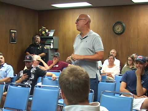 Water Valley, Mississippi - City Board Meeting - September 2017