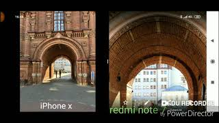 Redmi note 7 iphone x camera comparison