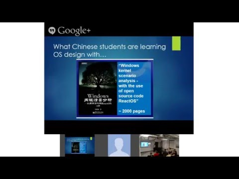 ReactOS Tech talk in Google Montreal by Alex Ionescu in 2013