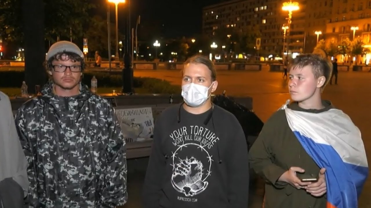 Бессрочный протест на Пушкинской площади в Москве / LIVE 09.07.20