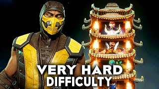 Mortal Kombat 11 Scorpion Klassic Tower Very Hard Difficulty Gameplay (No Commentary)