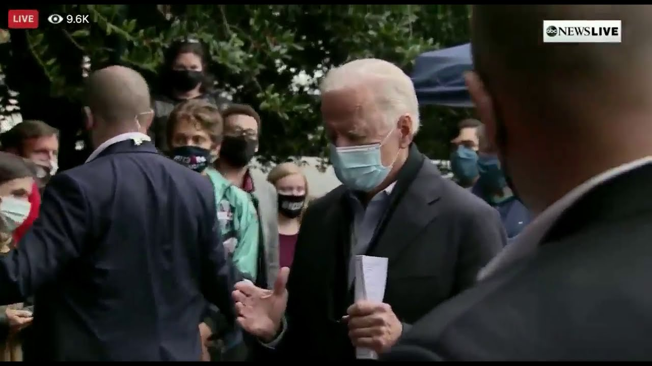 MUST WATCH: When asked about court-packing, Biden's staff immediately escorts the camera out