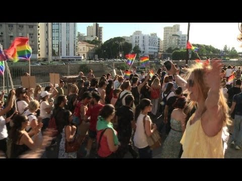 Nicosia holds its first Greek Cypriot gay pride parade