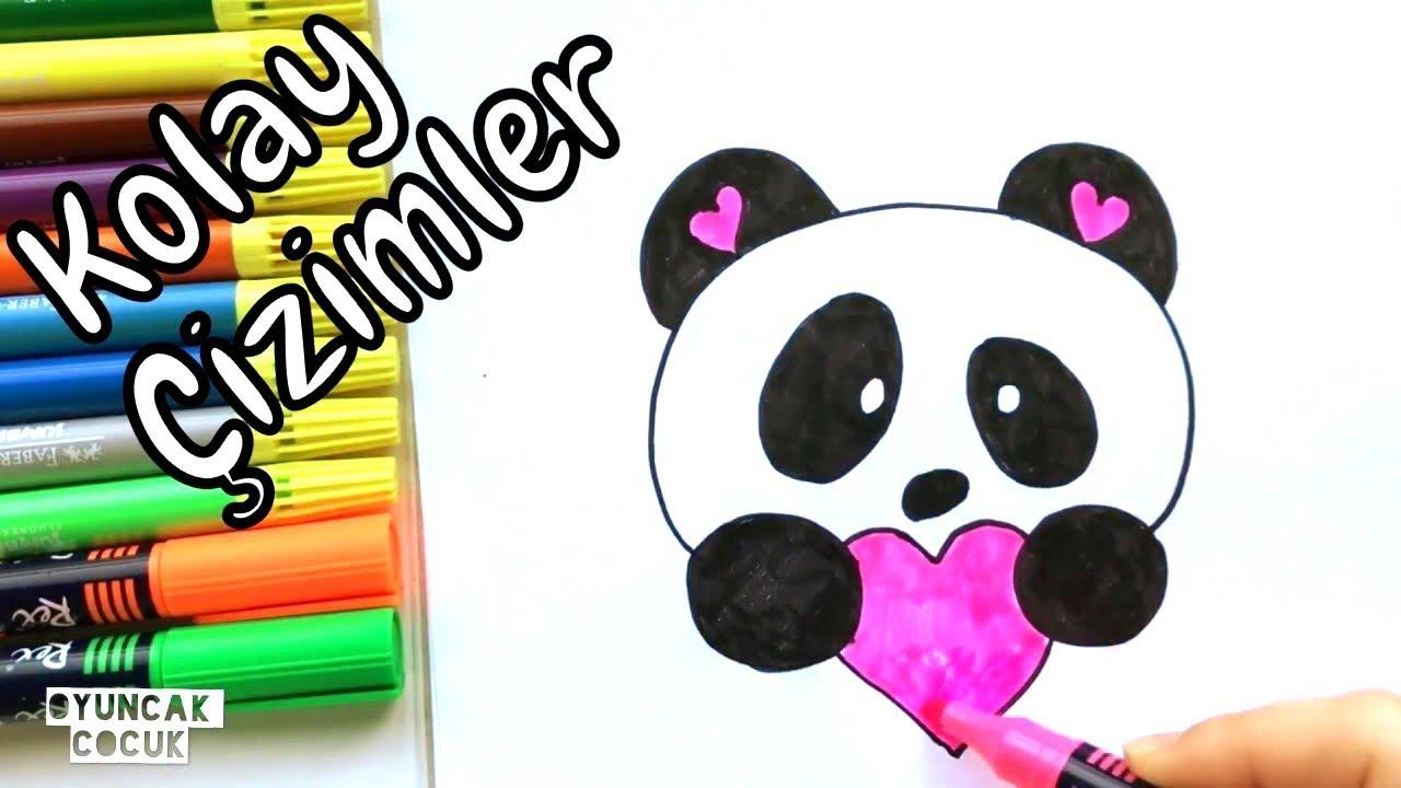 Kolay Cizimler Sevimli Panda Nasil Cizilir Resim Cizimleri