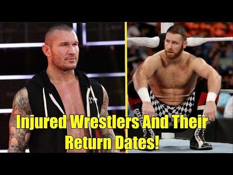 10 INJURED Wrestlers And Their Possible RETURN Date! Randy Orton, Sami Zayn & More!